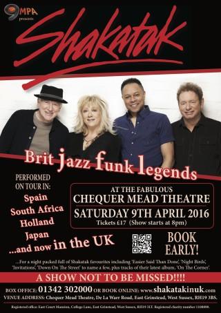 Shakatak, Brit Jazz Funk Legends play Chequer Mead, East Grinstead